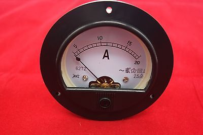 Ac 0-20a Round Analog Ammeter Panel Amp Current Meter Dia. 90mm Direct Connect