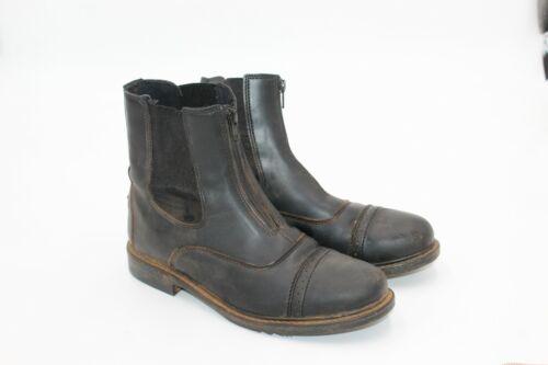 TuffRider Womens Starter Front Zip Paddock Boots Size 9 Black Horseback Riding