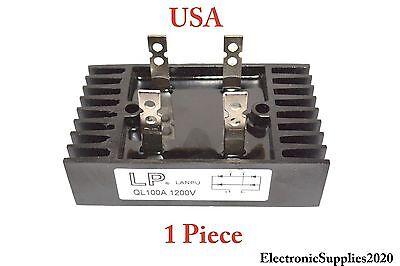 Diode Bridge Rectifier By Lp 100a Amp 1200v Volt Metal 4 Pin Leg - Usa 1 Piece