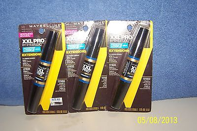 Maybelline XXL Pro Extensions Waterproof  Mascara #542 Very Black x3 on Rummage