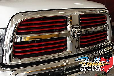 2014-2017 RAM 2500 Powerwagon Chrome With Red Inserts Grille MOPAR OEM