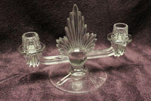 Art Deco Fostoria Flame Double Candleholder