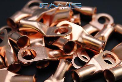 4 Gauge Copper 38 Ring 10 Pk Crimp Terminal Connector Awg Ga Car Eye Cur438