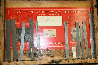 203- Dumont Minute Man 40-a Broach Set Keyway Cutter