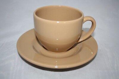 caramel braun Kaffee Set Wächtersbach alte Serie 200ml Tasse + Untertasse
