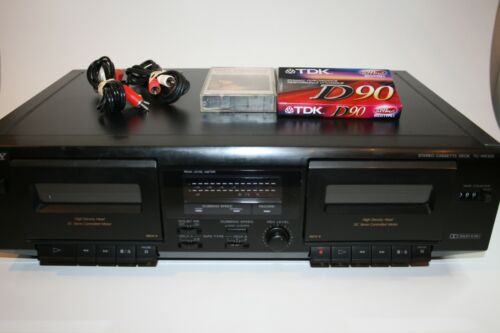 SonyTC-WE305 Dual Cassette Tape Deck Recorder Hi Speed Dubbing TESTED