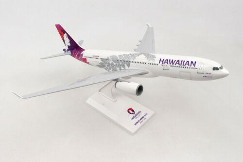 SKYMARKS (SKR987) HAWAIIAN AIRLINES A330-200 1:200 SCALE PLASTIC SNAPFIT MODEL