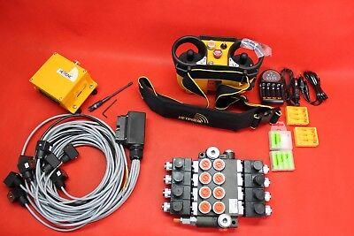 Hydraulic Bank Motor 4 Spool Bank Solenoid Control Valve 50 L 12v Radio