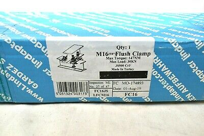 Lindapter Fc Flush Clamp M16 58 I Beam Clamp Connector Steel Lfcm16 New