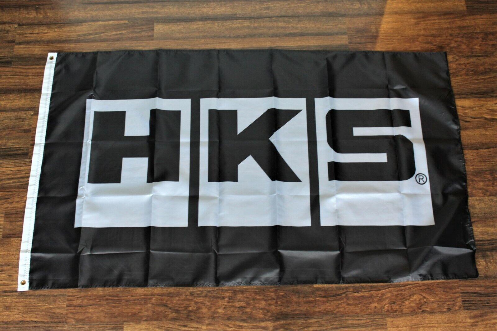 Car Parts - HKS Banner Flag Japanese Aftermarket Car Parts Garage Auto Repair Shop Store 3x5