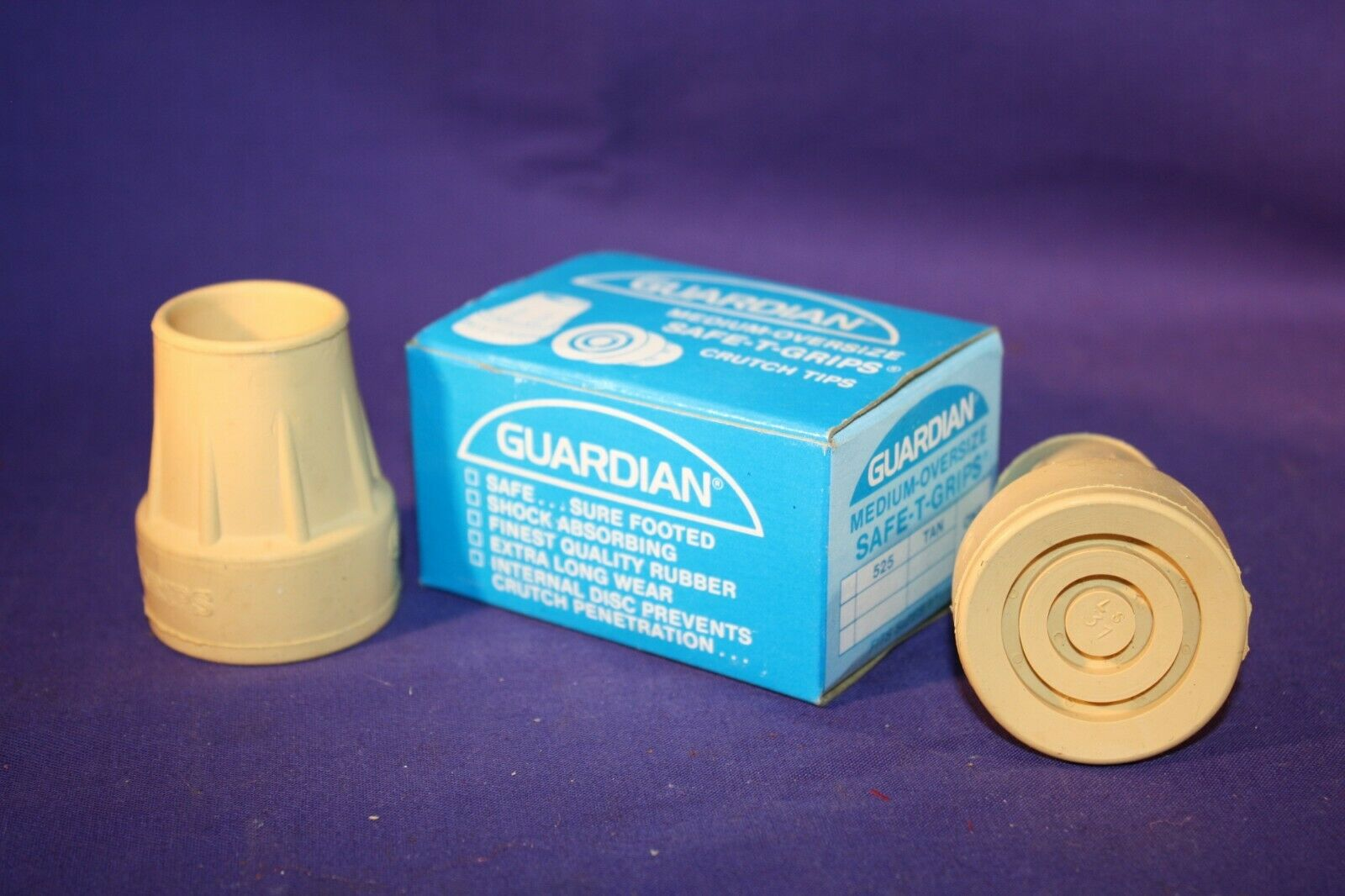 "Crutch Tip set of 2 Medium fits 1"" to 1-1/8"" GUARDIAN brand"