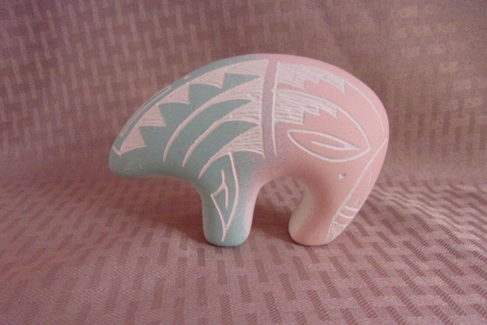 Signed R M Dineh Pottery Polar Bear