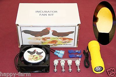 Forced Air Fan Kit For Incubators Hatching Eggs Free Egg Candler
