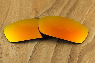 Fire Red Orange Polarized Mirrored Sunglass Lenses for Oakley Spike Blue Tinted, used for sale  Shipping to Canada