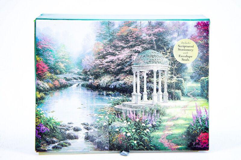 Thomas Kinkade Painter Of Light The Garden Of Prayer Stationary Gift Set 1998