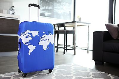 American Tourister - Luggage Suitcase Cover World Map Cobalt Blue Fits 24