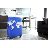 """American Tourister - Luggage Suitcase Cover World Map Cobalt Blue Fits 24""""-27"""""""