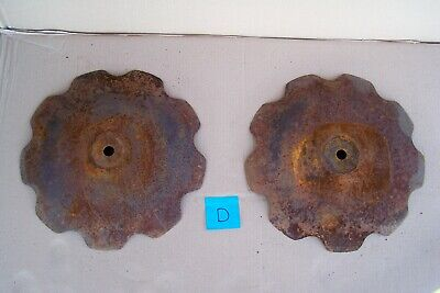 2 Large 17 Scalloped Vintage Plow Disc Blades Old Farm Equipment Steampunk