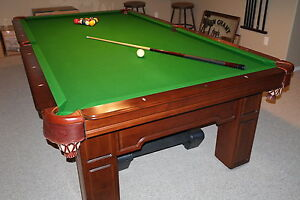 Olhausen Pool Table - American made, solid wood !