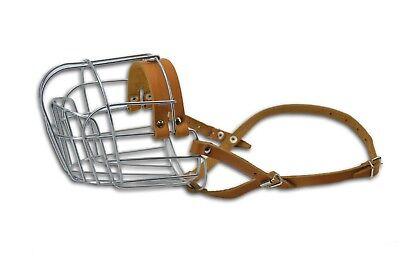 """Metal STRONG Wire Basket Dog Muzzle. Circumf. 17"""" Length 5.5'' Saint Bernard"""