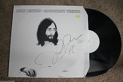 JOHN LENNON Goodnight Vienna Classic Rock RECORD LP VG++