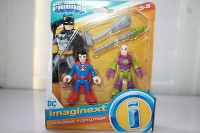 Fisher Price D.C Superfriends Superman & Lex Luthor Imaginext new