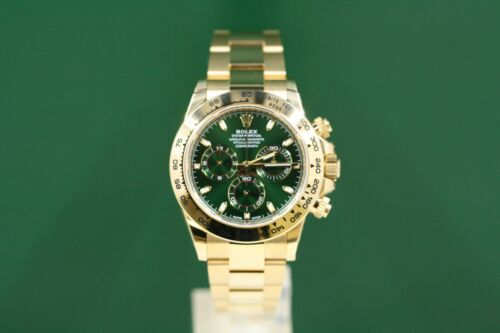 Rolex Daytona Model 116508 18k Yellow Gold Green Dial -unused-