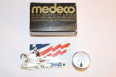 Medeco Mortise Cylinder 1-satin Nickel Biaxial Patriot Keys.