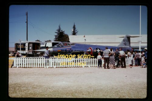1959 Lockheed F-104A Starfighter Aircraft at Sacramento, CA, Original Slide b22a