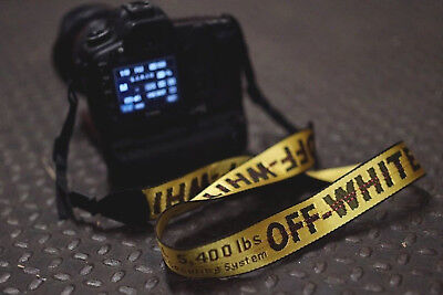 OFF WHITE Industrial Belt Strap Supreme Gold Yellow Fit any Film or DSLR Camera