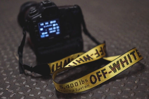 OFF WHITE c/o Virgil Abloh - Camera Strap DSLR Yellow Industrial Belt US