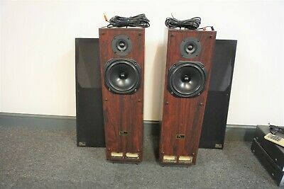 TDL RTL 2 Main / Stereo Speakers 80 Watts 8 Ohms - Rosewood Effect Veneer Casing