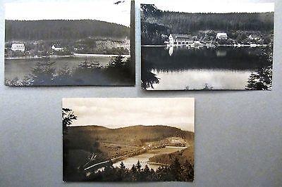 DDR Postkarten Lot 3x Lütschetalsperre bei Frankenhain Thüringen ca. 1963/63