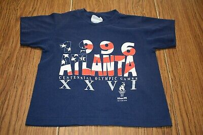 Rare Vintage Centennial 100 Olympic Games Atlanta 1996 T Shirt 90s Youth S - 1996 Centennial Olympic Games