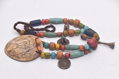 Antique NAGA Necklace of Unique sankh head and coin Pendant,Ethnic art,folk art for sale  Elmhurst