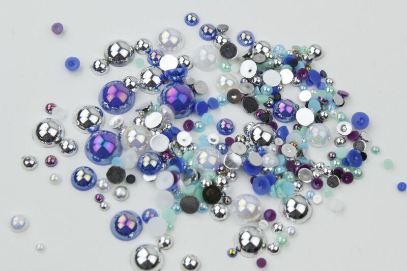 Mixed Flat Back Pearls Rhinestones Embellishments Face Gems Craft Card Making