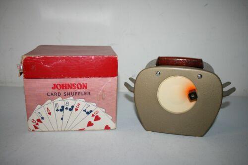 Vintage Johnson Card Shuffler w/ Box & Instructions Model #50