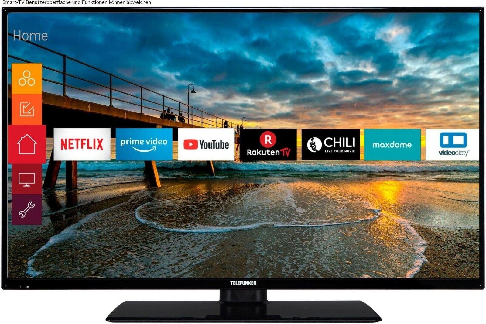 "32"" HD LED-Fernseher 81 cm Triple Tuner Smart-TV WLAN Netflix Amazon Prime TOP"