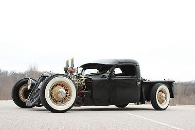 Dodge : Other Rat Rod 1937 Dodge Rat Rod PickUp, Corvette 327ci, 5 SPD, Heat, SUPERCHARGED!! SHOW!!