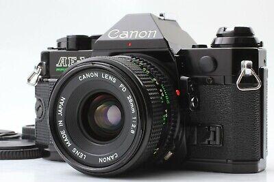 【 NEAR MINT】Canon AE-1 Program Film Camera Black & NFD 28mm F2.8 from Japan #666