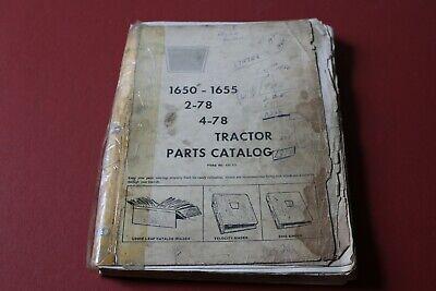 Oliver Model 1650-1655 2-78 4-78 Tractor Parts Catalog Bookmanual No.433 121