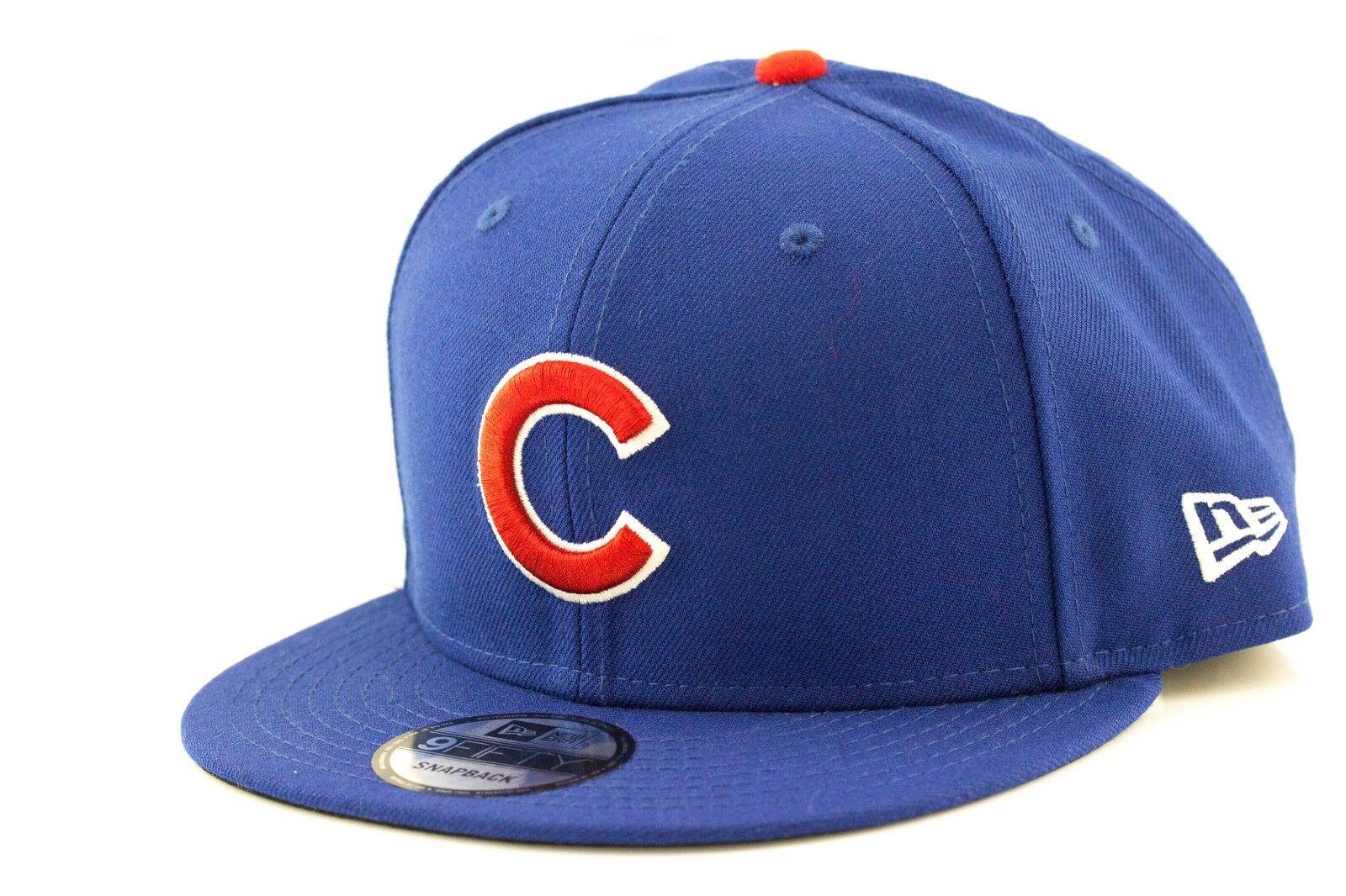 3e64634c8fe Chicago Cubs New Era MLB Team 9Fifty Snapback Hat Genuine Baseball Cap New  Era
