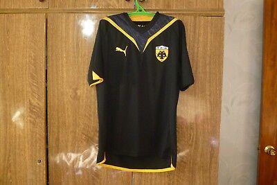 AEK Athens FC Puma Football Shirt Away 2009/2010 Greece Soccer Jersey Men Size M image