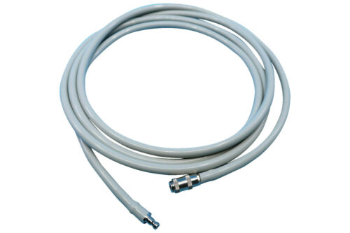 NIBP Air Hose Tube with BP12 and BP15 Quick Disconnect Metal Connectors, 7ft