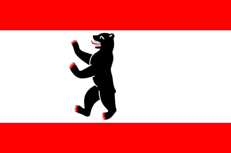 ***BERLIN GERMANY VINYL FLAG DECAL / STICKER***