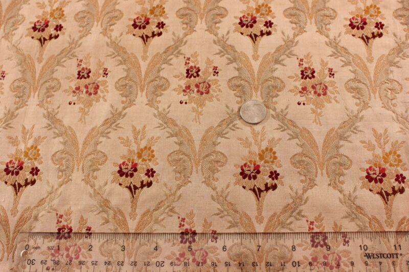 "French c1910 Silk Brocade, Antique,Chateau Curtain Panel~2yds24""LX43""W~HomeDec"