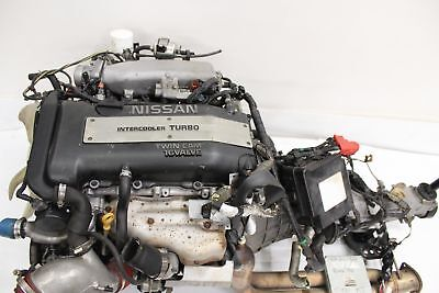 JDM NISSAN 240SX SR20DET S14 94-97 NOTCH TOP COMPLETE ENGINE W/5M.T TRANSMISSION