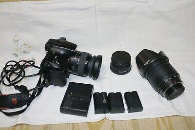 Sony-Alpha-SLT-A65 obbiettivo 18-50 + 28/200 + grandangolare + 3 batterie