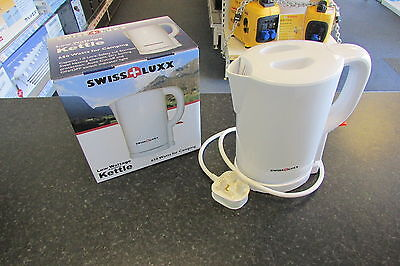 Low Wattage Caravan Kettle 650W  1.0 Litre White Swiss Lux
