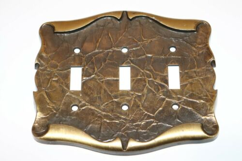 Amerock Carriage House 3-Gang Switch Wall Plate Cover Dark Brass Parchment Style
